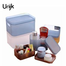 Urijk Makeup Organizer Jewelry Storage Boxes Clothing Toys Storage Plastic Medical Kit Bins Bathroom Office Home Table Box Bins(China)