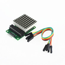 Free Shipping MAX7219 Dot LED Matrix Module MCU LED Display Control Module Kit for arduino