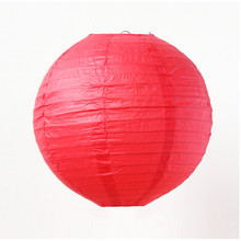 "3pcs 16""(40cm)Red Round Chinese Lantern For Fashion Party Wedding Room Showcase Decoration Festival Decoration DIY(China)"