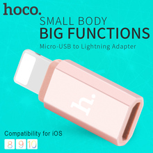 HOCO Micro USB Female Adapter for Apple Lightning 8 pin Male Converter Charging Data Sync for Micro-USB Cables for iPhone iPad