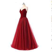2017 Red Wine  new design truly imperial women leisure dress bra sequins transparent Org long Formal Eve dresses  costume party.