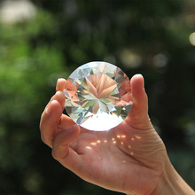30mm/ 40mm Transparent Crystal Diamond Paperweight Glass Fengshui Crafts Home Ornaments Wedding Decor Party Souvenir Gifts
