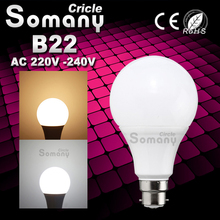 High Bright B22 LED Lamp 3W-15W AC 220V 230V 240V Luz Bombillas 2835 SMD 290LM-1250LM Lampada Home Energy Saving B22 LED Bulb