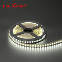Hello Fish 5m Single  Layer PCB 600 LED Strip Light, 2835 SMD 12V Flexible LED Tape, White/Warm White