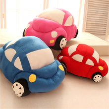 1pcs 30cm free shipping 2015 hot style creative beetle sedan car plush toy &stuffed toy &doll blue red pink green color