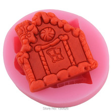 New Siilcone Fondant little House shape Mold cookie mold DIY Castle Cake Decoration Chocolate Bakeware Cooking Tool Kitchen(China)