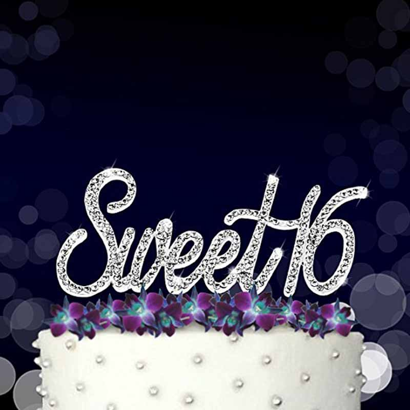 Sixteenth 16th Birthday Cake Topper 16 Years Old