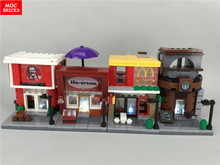 MOC  Block  Building Blocks Sembo blocks bricks PepsiCo Store fruit LV shop flower mini street Store Starbucks Pharmacy SD6010