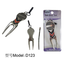 Free Shipping 5pcs/lot Silver Golf Hat Clip Divot Tool repair tool with Ball Marker golf equipment accessories