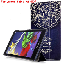 "Buy Tab3 8 8.0 TB3-850F / TB3-850M Magnet Smart Cover PU Leather Case Lenovo Tab 2 3 A8 Tab2 A8-50F 8"" Tablet Case Shell Cover for $6.95 in AliExpress store"