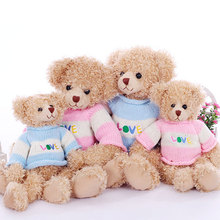 Curly Plush Teddy Bear Stuffed Toys LOVE Sweater Large Teddy Bears Soft Dolls Children Girls Gifts Toy Collection