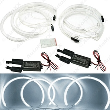 Car CCFL LED Angel Eyes Headlights for BMW X5(E53) Angel Eyes Kits White #J-3899(China)