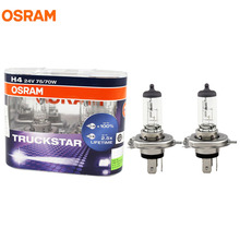 OSRAM H4 24V 75/70W 64196LTS TRUCKSTAR Halogen Headlight Bulbs Fog Break Light Truck Lamps 100 % more light 2.5x lifetime 2pcs