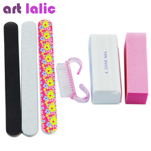 Artlalic 6pcs/set Nail Art Buffer File Block Brush Medicure Pedicure Buffing Sanding Polish DIY Nails Beauty Tools High Quality(China)
