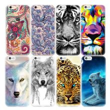 Fashion TPU Printing Pattern Phone Case For iPhone 5S 6S 7 6 Plus 4S 4 5 5C SE Protective Cover Bags Shell Skin Animals Flowers