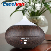 Excelvan 280ml Essential Oil Diffuser Ultrasonic Aromatherapy Humidifier Aroma Diffuser Mist Air Purifier Woodgrain Smile-1