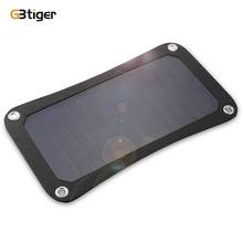 GBtiger 7W Solar Charger Panel Water resistant Emergency Power Bank Suitable for Smartphone, Tablet, MP3, MP4, Camera, PSP, GPS