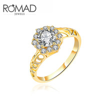 The Royal Wedding Ring Is A White AAA+ Cubic Zirconia Gold Ring Female Fashion Valentine's Day Gift Ring Popular Gift Jewellery