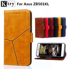 Asus Zenfone live ZB501KL Case Luxury Pu Leather Phone Case for Asus ZB501KL Flip Cover Wallet Card Slot coque(China)