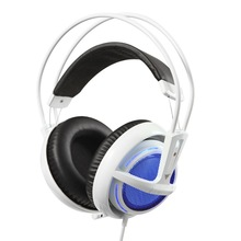 HOT SALE  Headphones For PC SteelSeries Siberia V2 Frost Blue Luminous Headset With Microphone For Computer Gamer Noise Cancel