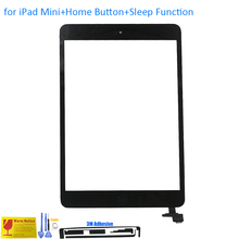 ALANGDUO for iPad Mini 1 2 A1432 A1454 A1455 A1489 A1490 A1491 Touch Screen Digitizer Panel with Home Button IC + Sleep Function