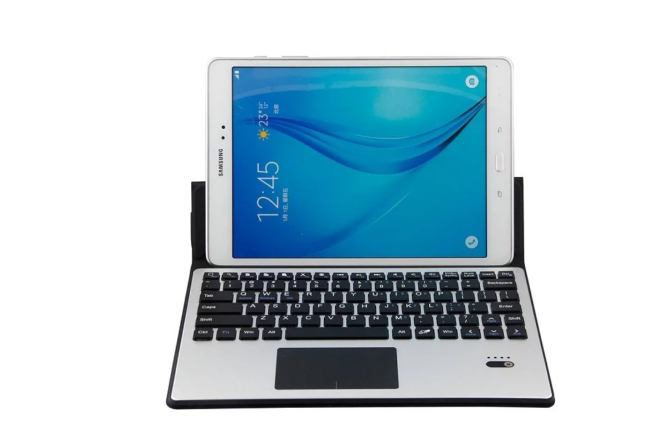 Universal 9 9.7 10 10.1 inch Android Windows Tablet Detachable Aluminum Bluetooth Touchpad Keyboard+PU Leather Case Stand Cover<br>