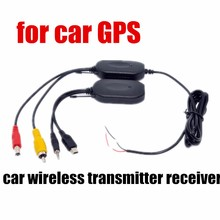 Promotion 2.4G Wireless RCA Video Transmitter and Receiver for GPS Car Rear view Camera Monitor