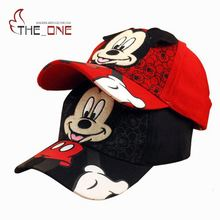 2016 2-6T Baby Boys Girls Cartoon Mickey Pattern Caps Children Snapback Summer Adjustable Hip Hop Hats Decoration T348