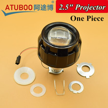 "One Piece 2.5"" HID Mini Projector Lens with Black Shroud H1 Xenon Bulb Socket for H7 H4 Car Motorcycle Headlight"