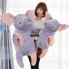 Dorimytrader Lovely Big Cartoon Pig Plush Pillow Giant Soft Animal Pigs Stuffed Toy Anime Doll Present 39inches 100cm DY61681