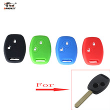 DANDKEY Wholesale 50pcs 2 Button Remote Fob Shell Case Car Silicon Key Cover for Honda 2 BT CR-V Fit Pilot Accord Civic(China)