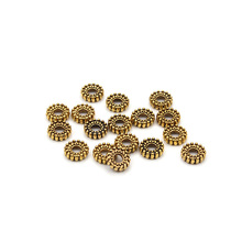 Buy 100pcs/lot 6mm Alloy Metal Antique Gold Spacers Beads Charms Jewelry Findings DIY Necklace Bracelet Jewelry Making for $1.69 in AliExpress store
