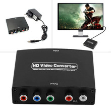 1080P HD HDMI to RGB Component YPbPr Video + R/L Audio Adapter Converter Connector HD TV HS