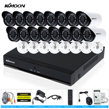 KKmoon CCTV System Kit 16CH HDMI 960H DVR with 16PCS 700TVL IR Waterproof CCTV Cameras Home Security Camera System DVR CCTV Kit