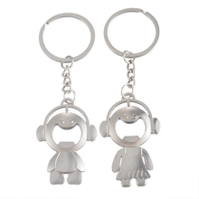 Cute Unique Couples Braid groom Bride Design Key Chain Set for Lovers' Key Chain, Key Ring Set Keychain