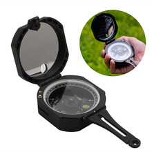 1PC Plastic 0-360 Degrees Hiking Gear Compasses & GPS High Precision Magnetic Pocket Transit Geological Compass Scale