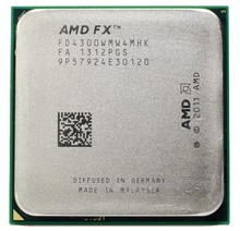 AMD FX 4300 3.8 GHz Quad-Core Processor Socket AM3+ 32NM CPU Bulk Package FX-4300