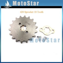 Front Engine Chain Sprocket Gear For 50cc 70 90cc 110cc 125cc YX Lifan ATV Quad Pit Dirt Motor Bike Motorcycle 420 18 Tooth 17mm