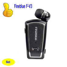 Fineblue F-V3 Mini Retractable Stereo Bluetooth Headset Wireless Clip Headphones For IOS Android Bluetooth 4.0