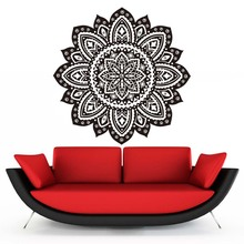 DCTOP Mandala Vinyl Wall Stickers Bedroom Home Decor Indian Lotus Flowers Pattern Living Room Decals Removable Art Wallpaper
