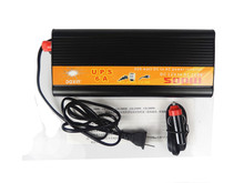 free shipping,500W 1000W(peak) 12v to 220v Car Power Inverter+Charger 6A & UPS,Quiet and Fast Charge