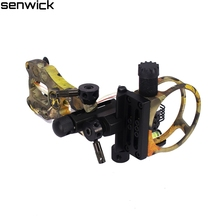 New 5 Pin Archery Bow Sight With Aluminum Alloy Material & Adjustable Light For Compound Bow Hunting Target Shooting Accessories