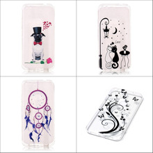 Popular cute cartoon cat abstract painting soft tpu transparent back case cover for Google Pixel Google Pixel XL with stylus pen