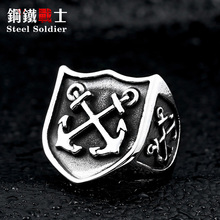 Steel soldier hot sale anchor ring stainless steel popular fashion ring for men jewelry factory price