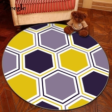 Zeegle Nordic Style Round Carpet For Living Room Coffee Table Room Bedroom Rug Soft Kids Play Mat Computer Swivel Chair Cushion(China)
