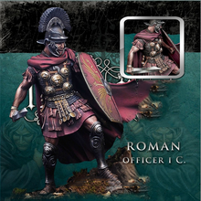 Free Shipping 1/24 Scale 7cm Unpainted Resin Figure Roman officer collection figure