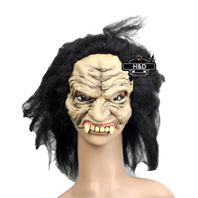 Masquerade Halloween Long Hair Latex Ghost Mask Cosplay Adult Full Face Scary Mask Halloween Props Party Costumes Fancy Dress