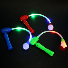 Glow Stick Electric Magic Wand Flashing Flash Luminous Musical Toy for Concerts Party Prom Halloween Christmas(China)