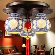 Simple Chinese style ceiling lamp classical lamp living room lamp bedroom restaurant lighting 3 heads ceiling lights ZA ZL515(China)