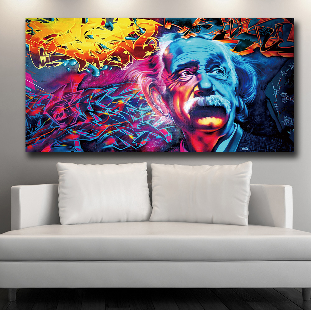 ALBERT EINSTEIN TRIPPY POSTER PSYCHEDELIC GIANT WALL ART HUGE ABSTRACT PRINT